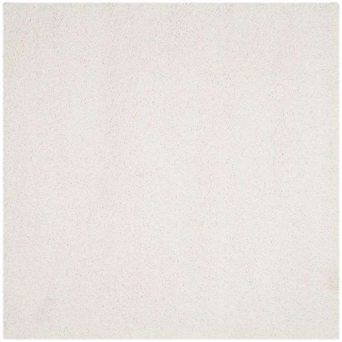 Alternate image 1 for Safavieh California Shag 6-Foot 7-Inch x 6-Foot 7-Inch Irvine Rug in White