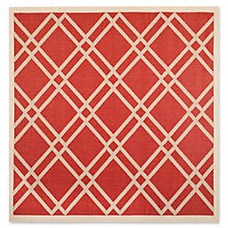 Safavieh Courtyard 7-Foot 10-Inch x 7-Foot 10-Inch Margot Indoor/Outdoor Rug in Red/Bone