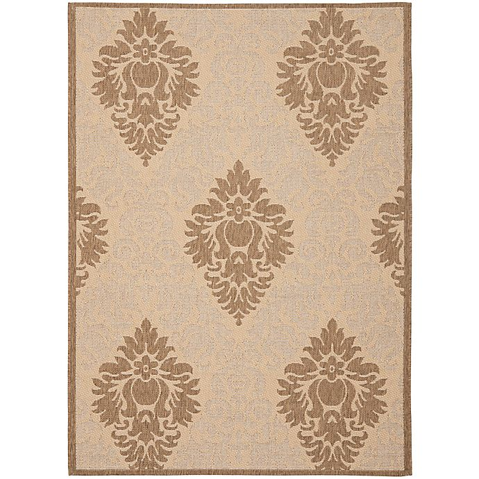 Alternate image 1 for Safavieh Courtyard 4-Foot x 5-Foot 7-Inch Lyla Indoor/Outdoor Rug in Natural/Brown