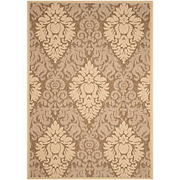 Safavieh Courtyard Lyla 6'7 x 9'6 Indoor/Outdoor Area Rug in Brown/Natural