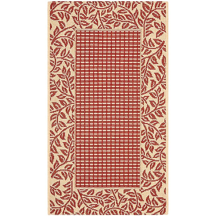 Alternate image 1 for Safavieh Courtyard 2-Foot 7-Inch x 5-Foot Emma Indoor/Outdoor Rug in Red/Natural