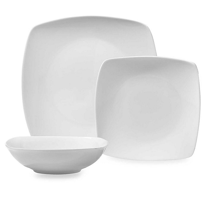 Alternate image 1 for Everyday White® Cordon Bleu Square White Dinnerware Collection