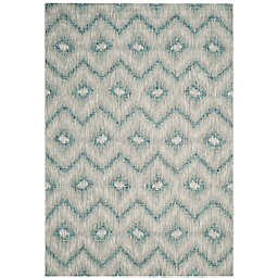 Safavieh Courtyard Nola Indoor/Outdoor Rug in Grey/Blue