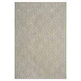 Safavieh Courtyard Laurel Indoor/Outdoor Rug in Green/Grey