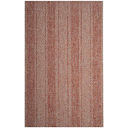 Safavieh Courtyard 8-Foot x 11-Foot Tori Indoor/Outdoor Rug in Light Beige/Terracotta