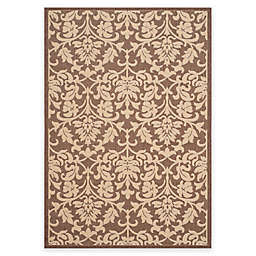 Safavieh Courtyard 2-Foot 7-Inch x 5-Foot Dakota Indoor/Outdoor Rug in Chocolate/Natural