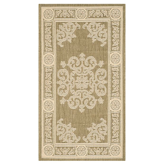 Alternate image 1 for Safavieh Courtyard Laila 2'7 x 5' Indoor/Outdoor Area Rug in Olive