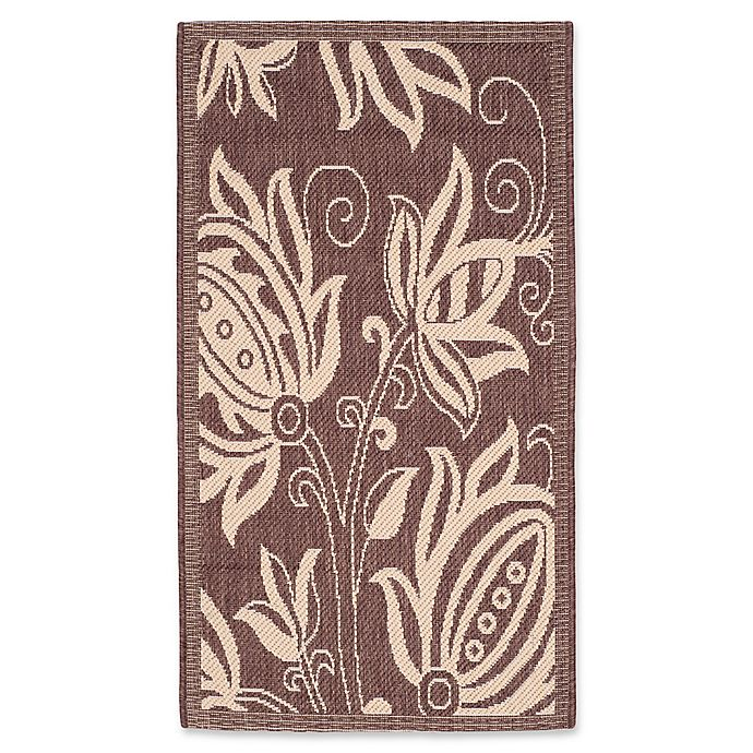 Alternate image 1 for Safavieh Courtyard 2-Foot x 3-Foot 7-Inch Reese Indoor/Outdoor Rug in Chocolate/Natural