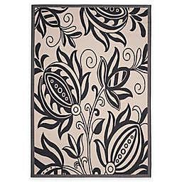Safavieh Courtyard Reese 5'3 x 7'7 Indoor/Outdoor Area Rug in Sand/Black