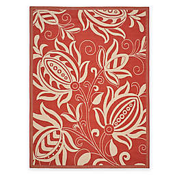 Safavieh Courtyard Reese 8' x 11' Indoor/Outdoor Area Rug in Red/Natural
