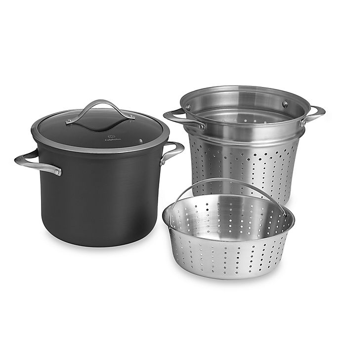 Alternate image 1 for Calphalon® Contemporary Nonstick 8 qt. Multi Pot with Steamer