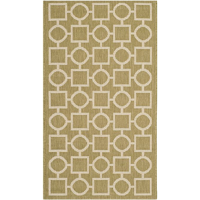 Alternate image 1 for Safavieh Courtyard 2-Foot x 3-Foot 7-Inch Saylor Indoor/Outdoor Rug in Green/Beige
