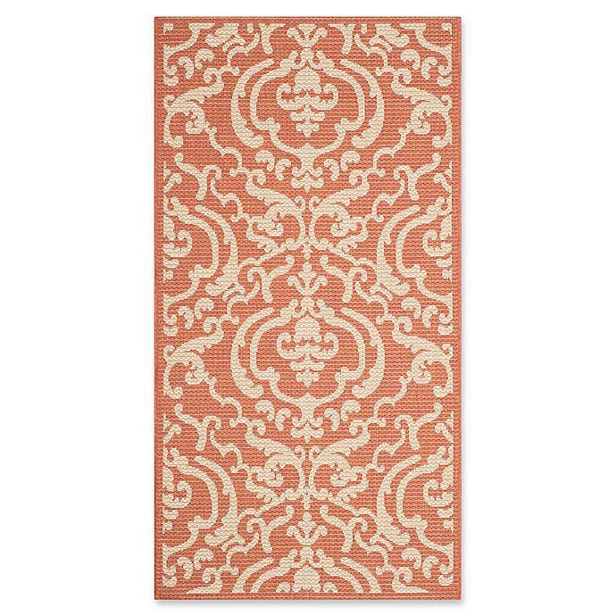 Alternate image 1 for Safavieh Courtyard 2-Foot 7-Inch x 5-Foot Sophie Indoor/Outdoor Rug in Terracotta/Natural