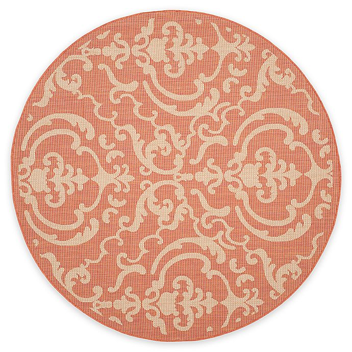 Alternate image 1 for Safavieh Courtyard 6-Foot 7-Inch x 6-Foot 7-Inch Sophie Indoor/Outdoor Rug in Terracotta/Natural