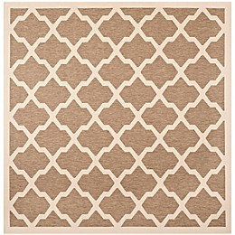 Safavieh Courtyard 2-Foot 7-Inch x 5-Foot Evie Indoor/Outdoor Rug in Navy/Beige