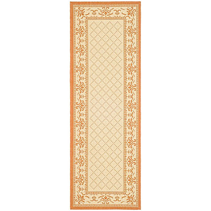 Alternate image 1 for Safavieh Courtyard 2-Foot 3-Inch x 6-Foot 7-Inch Sofia Indoor/Outdoor Rug in Natural/Terra