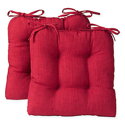 Reversible Tufted Chair Pads  (Set of 2)
