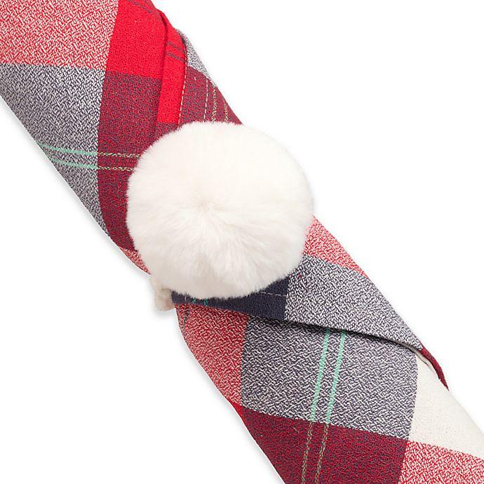 Alternate image 1 for UGG® Polar Pom Pom Napkin Rings (Set of 4)