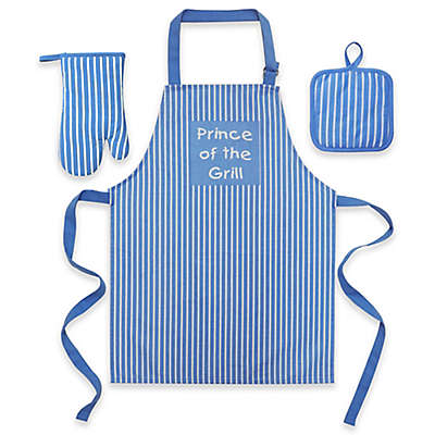 """Prince Of The Grill"" Kid's 3-Piece Apron Set"