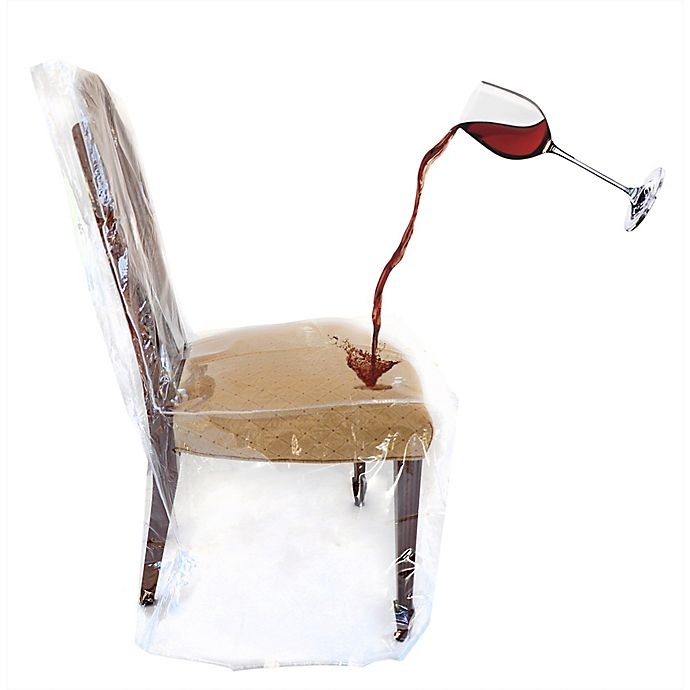 Alternate image 1 for Clear Dining Room Chair Cover