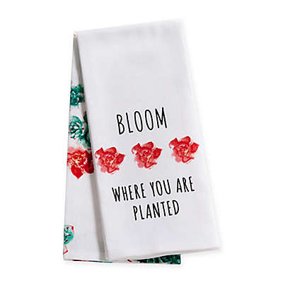 """Bloom Where You Are Planted"" 2-Pack Kitchen Towel"