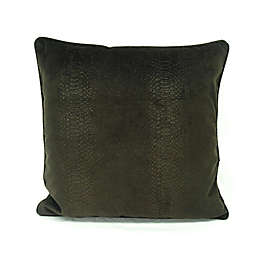 Feeling Snaky Square Throw Pillow in Brown