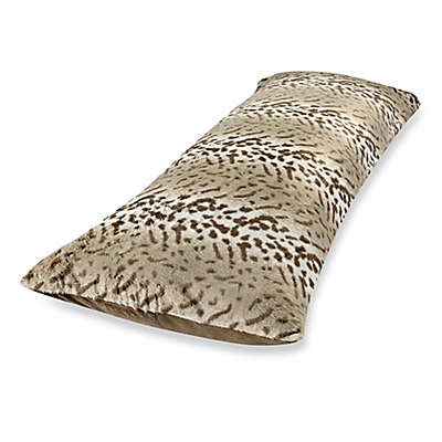 Faux Fur Body Pillow Cover in Leopard