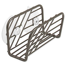 Spectrum™ Wright™ Suction Sink Sponge Holder in Grey
