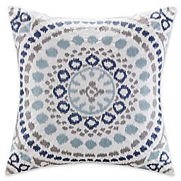 Madison Park Grace Embroidered Square Throw Pillow