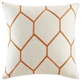 Madison Park Brooklyn Metallic Square Throw Pillows (Set of 2)