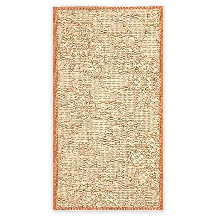 Alternate image 1 for Safavieh Courtyard Mariah 2'7 x 5' Indoor/Outdoor Area Rug in Natural/Terra