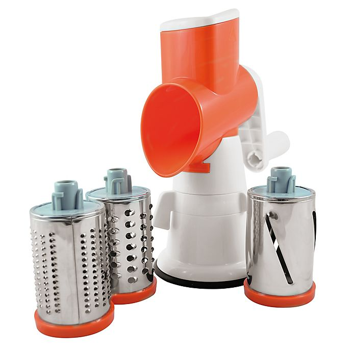 Alternate image 1 for Paderno World Cuisine Swift Drum Grader in White/Orange