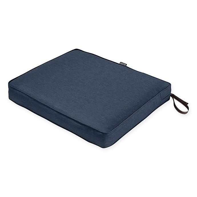 Alternate image 1 for Classic Accessories® Montlake™ FadeSafe 21-Inch x 23-Inch Outdoor Seat Cushion in Blue