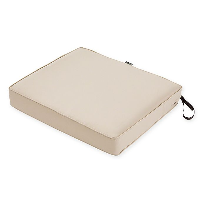 Alternate image 1 for Classic Accessories® Montlake™ FadeSafe 21-Inch x 23-Inch Outdoor Seat Cushion in Beige