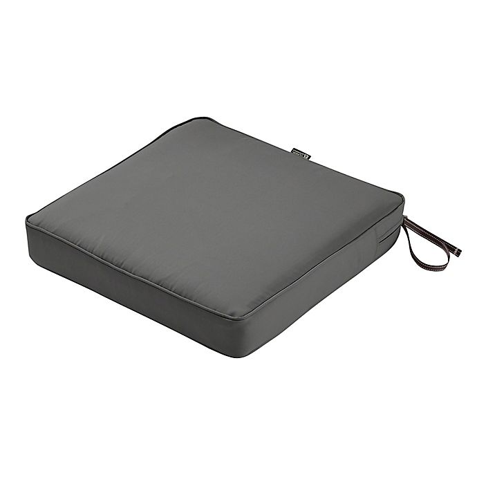 Alternate image 1 for Classic Accessories® Montlake™ FadeSafe 21-Inch x 21-Inch Dining Seat Cushion in Charcoal