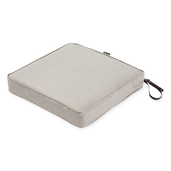 Alternate image 1 for Classic Accessories® Montlake™ FadeSafe 23-Inch x 23-Inch Dining Seat Cushion in Grey