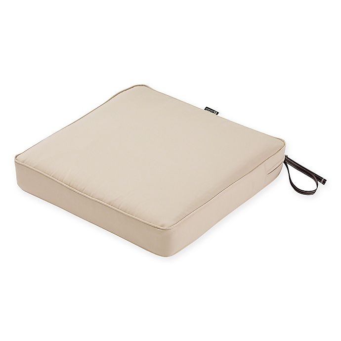 Alternate image 1 for Classic Accessories® Montlake™ FadeSafe 23-Inch x 23-Inch Dining Seat Cushion in Beige