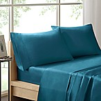 Sleep Philosophy Liquid Cotton Queen Sheet Set in Teal