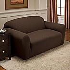 Newport Sofa Stretch Slipcover in Chocolate