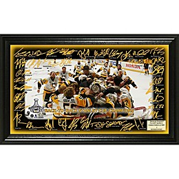NHL Pittsburgh Penguins 2017 Stanley Cup Champions Signature Rink Photo Frame