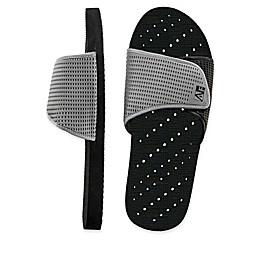 AquaFlops Men's Slide Shower Shoes in Grey/Black