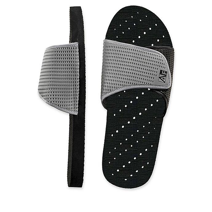 d803abeea643 AquaFlops Men s Slide Shower Shoes in Grey Black