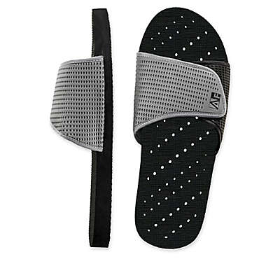 AquaFlops Men's Slide Shower Shoes in Grey/Black