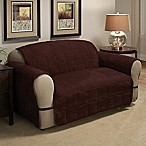 Ultimate Faux Suede Sofa Protector in Chocolate