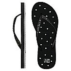 Women's Small Star AquaFlops Shower Shoes in Black