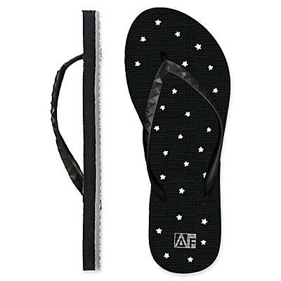 Women's Star AquaFlops Shower Shoes in Black