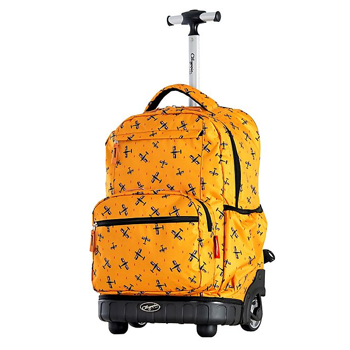 Alternate image 1 for Olympia® USA Melody 19-Inch Rolling Backpack in Plane Yellow