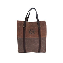 CB Station Voyager Waxed Canvas Tote Bag in Khaki