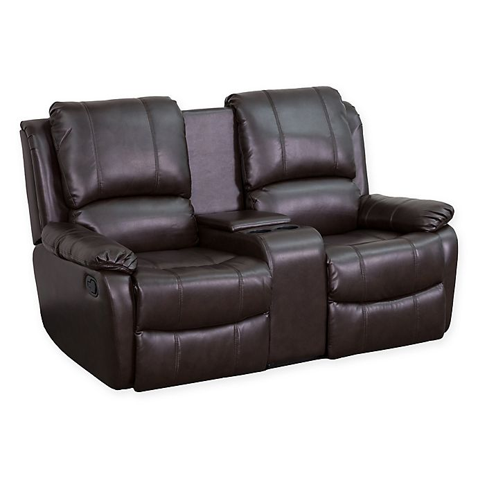 0cb1692da1 Flash Furniture Leather 2-Seat Home Theater Recliner | Bed Bath & Beyond