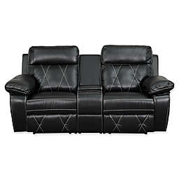 Flash Furniture 78-Inch Leather 2-Seat Reclining Theater Set